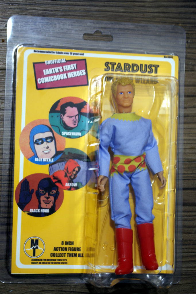 A doll of Stardust the Super Wizard, at mego scale